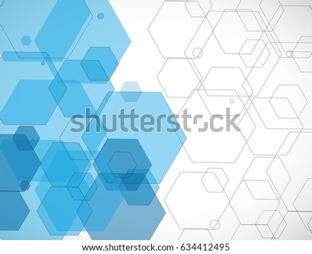 abstract blue hexagons