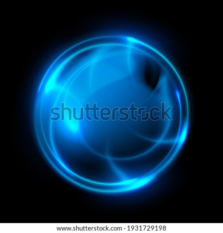 abstract blue light energy