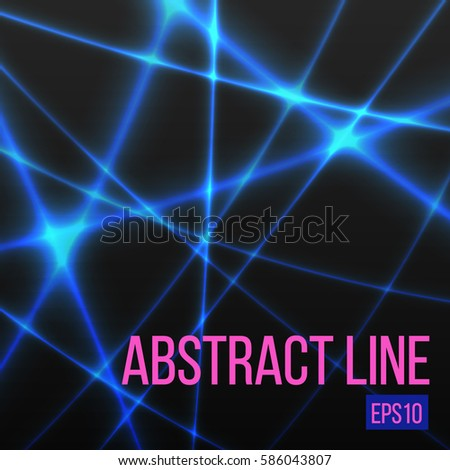 abstract blue light line
