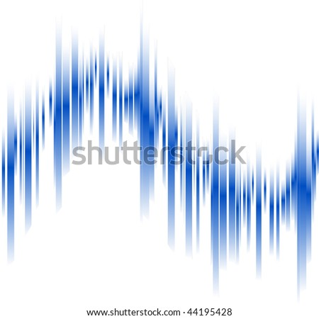 Abstract blue lines in perspective with space for text. Vector illustration