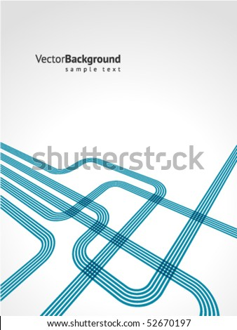 Abstract blue lines vector background - stock vector