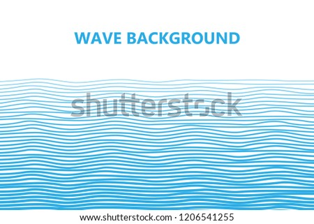 Abstract blue lines wave background