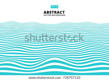 abstract blue lines wave  wavy