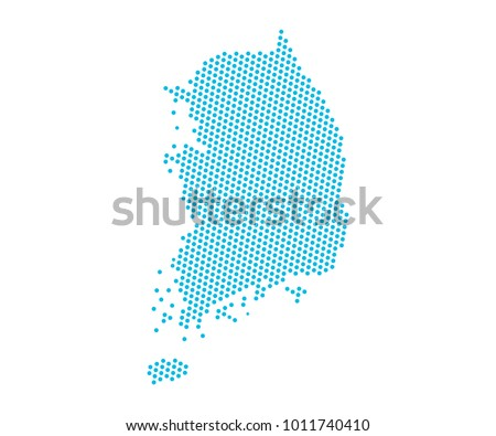 abstract blue map of south