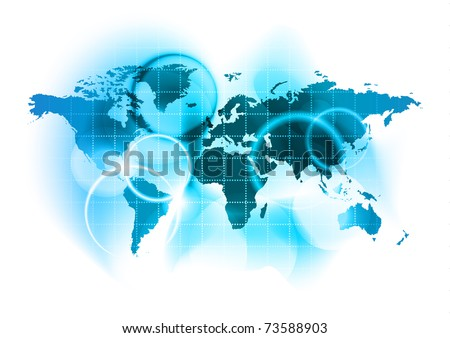 abstract blue map of the world