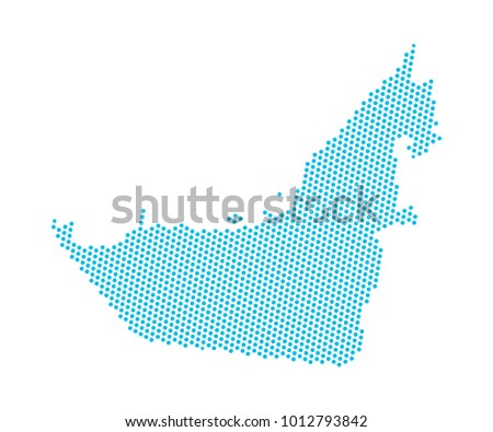 Emiratos rabes unidos vector mapa descargue grficos y vectores abstract blue map of united arab emirates uae dots planet lines global world gumiabroncs Images