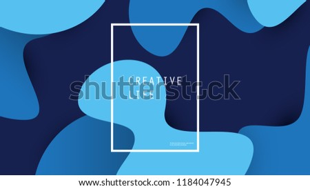 Abstract Blue Minimal Geometric Background Design, Gradient Shapes - Vector Illustration - Shutterstock ID 1184047945
