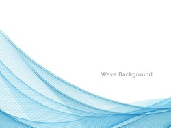 Abstract blue modern dynamic wave design background vector