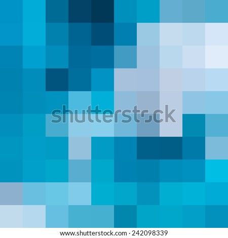 Abstract blue mosaic background - Vector