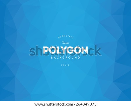 Abstract blue polygon vector background
