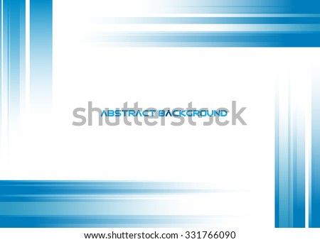 abstract blue rays on white