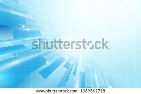 Abstract blue rectangles perspective background. Illustration vector