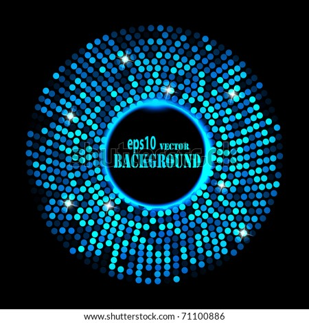 Abstract blue ring background. Vector eps10 illustration - stock vector