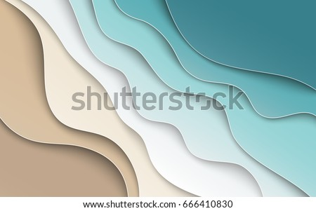 abstract blue sea and beach