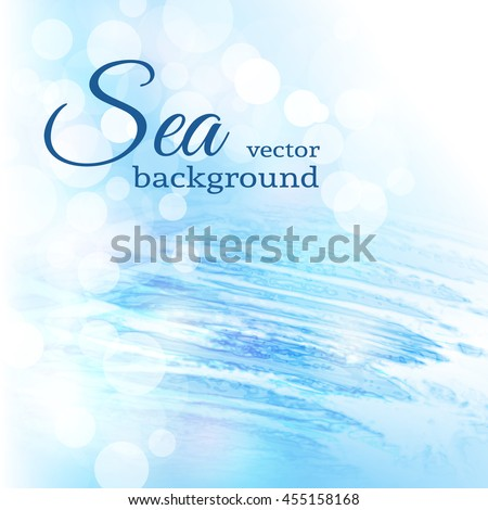 abstract blue sea bokeh