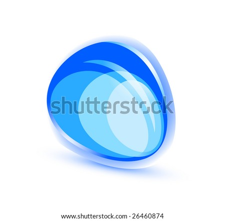 Abstract blue shape