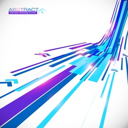 Abstract blue shining lines vector background