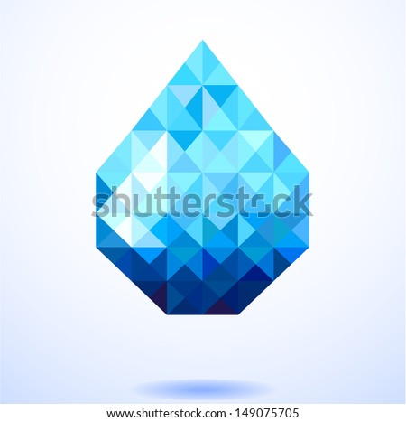 abstract blue shiny drop of