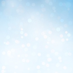 Abstract Blue Sky Bokeh Vector Background