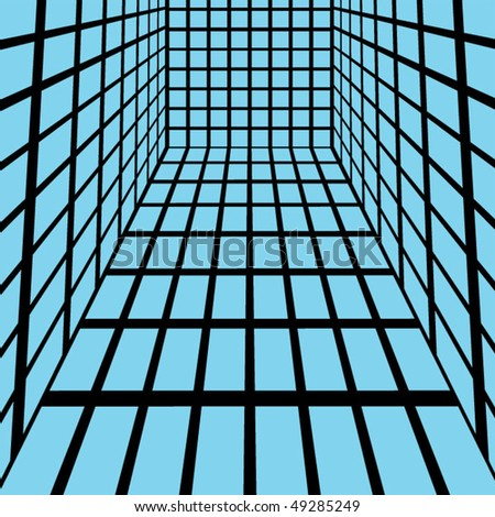 Abstract Blue Squares - Vector Illustration #49285249