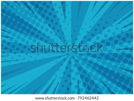 abstract blue striped retro