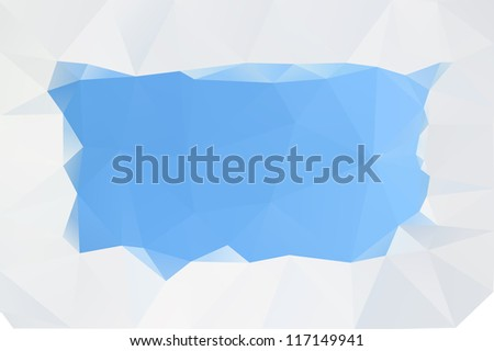 Abstract blue surface, vector background