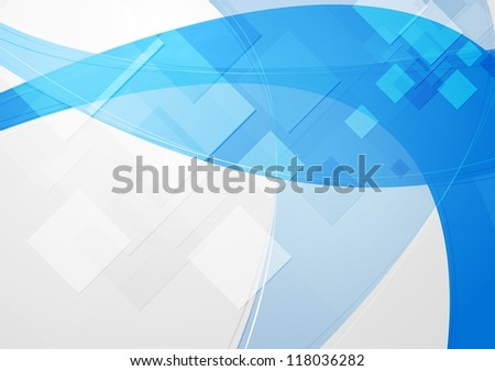Abstract blue tech backdrop. Vector design eps 10 - stock vector