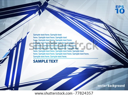 Abstract blue tech layout with copy space. Vector