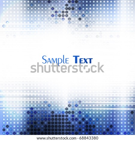 Abstract blue tech mosaic background. Vector