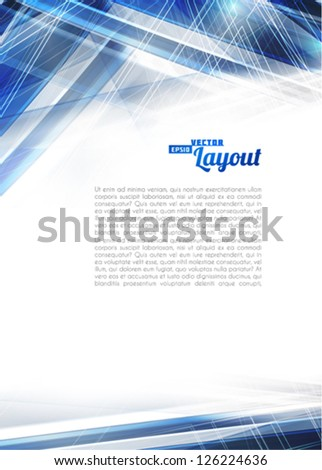 Abstract blue techno background. Vector
