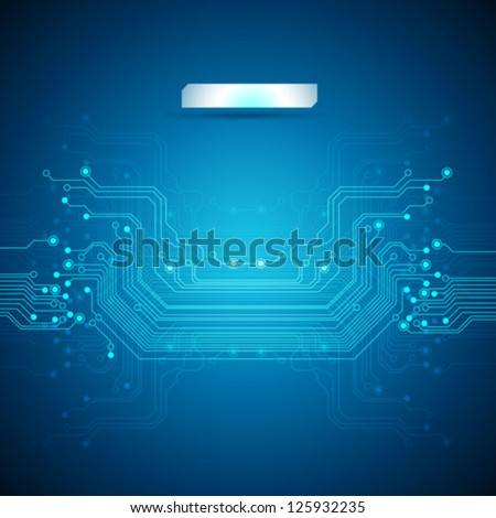 abstract blue technology background - vector