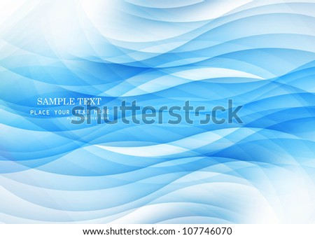 abstract blue technology colorful wave vector design