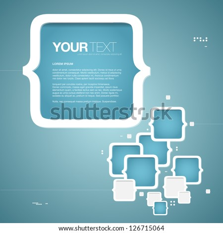 abstract blue text box design