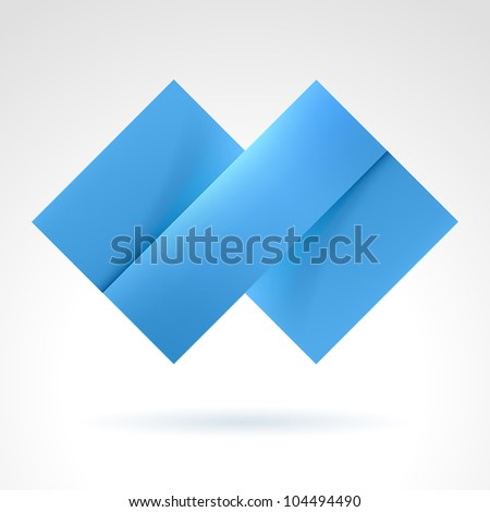 Abstract Blue Tile. Illustration on white for design