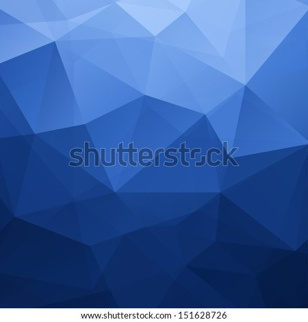 Abstract Blue Triangle Geometrical Background, Vector Illustration EPS10