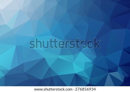 abstract blue triangular