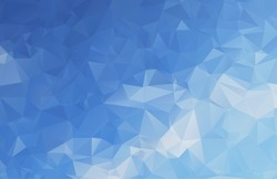 abstract blue water background in polygonal style