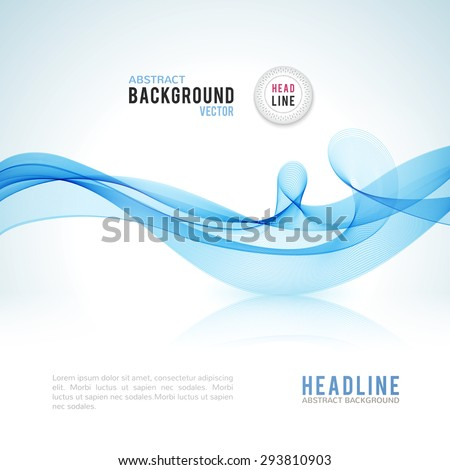abstract blue wave isolated on