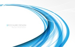 Abstract blue waves - data stream concept. Vector illustration. Clip-art