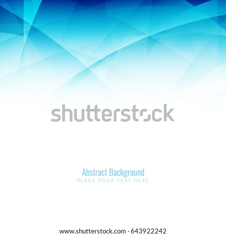 abstract blue wavy modern