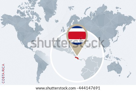 Free vector map of costa rica free vector art at vecteezy abstract blue world map with magnified costa rica vector illustration gumiabroncs Image collections