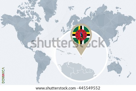 abstract blue world map with