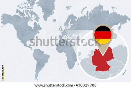 Free Germany Map Vector - Germany map in world map