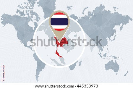 Free vector map of thailand free vector art at vecteezy abstract blue world map with magnified thailand flag and map vector illustration gumiabroncs Images
