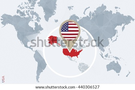 Free Vector World Map With Pins Download Free Vector Art Stock - Usa on a world map