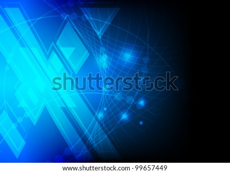 abstract blue xtreme abstract technology background vector - stock vector
