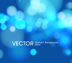 Abstract blur blue circular magic night holidays bokeh light effect background illustration