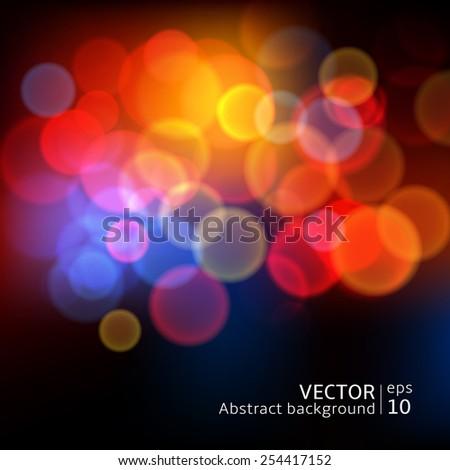 abstract blur circular bokeh