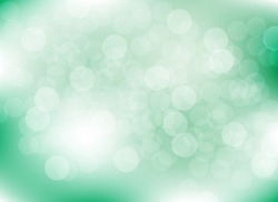 abstract blur green colorful light bokeh defocused background.glitter beautiful vector
