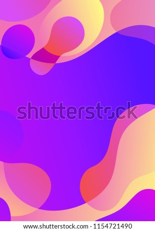 Abstract blur wave shapes in gradient iridescent colors effect soft transition. Slider template of fluid organic shapes with plastic lines, forms. Liquid effect background. Text place